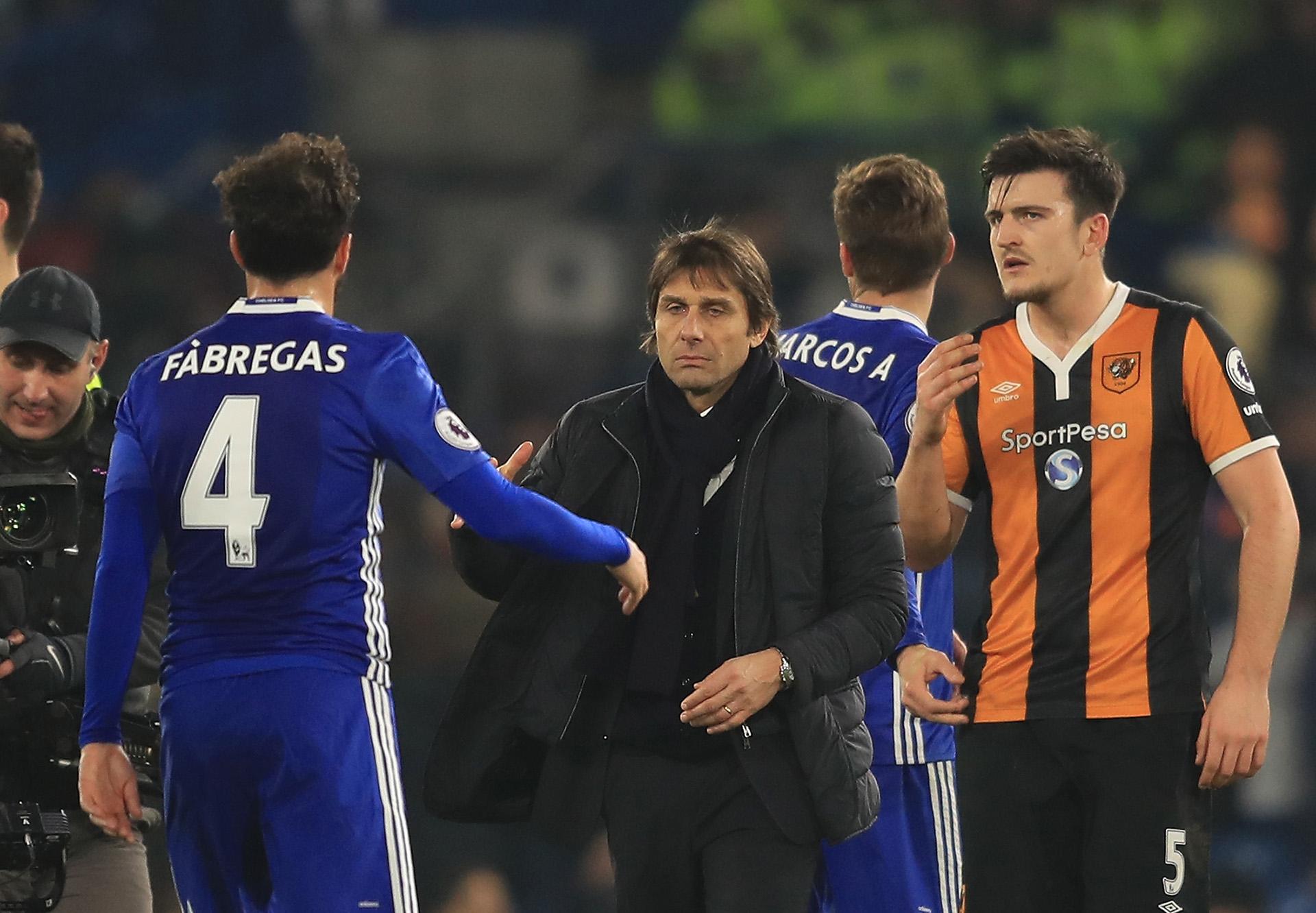 Cesc Fabregas Antonio Conte Chelsea Hull