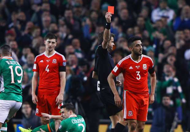 Neil Taylor Seamus Coleman Republic of Ireland Wales 24032017