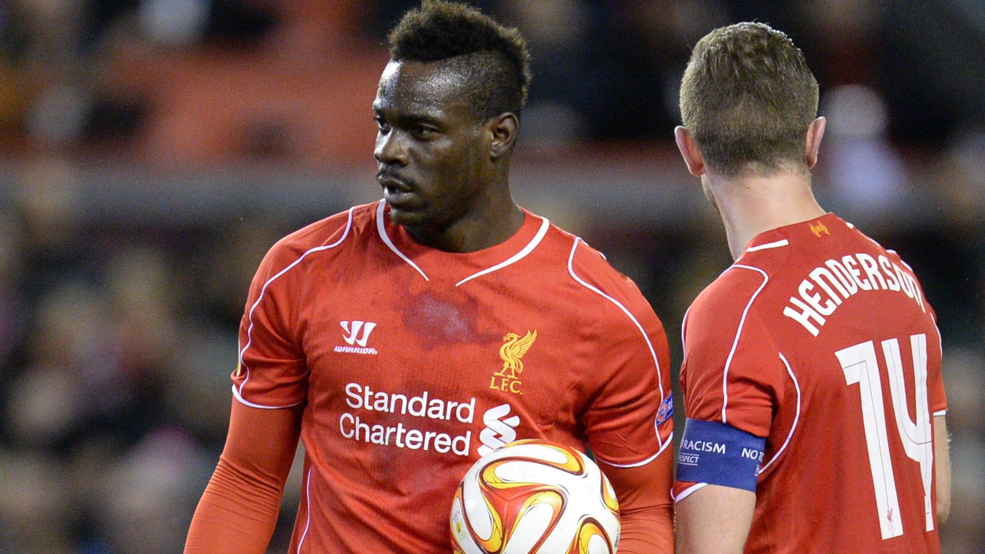 Balotelli Henderson Liverpool