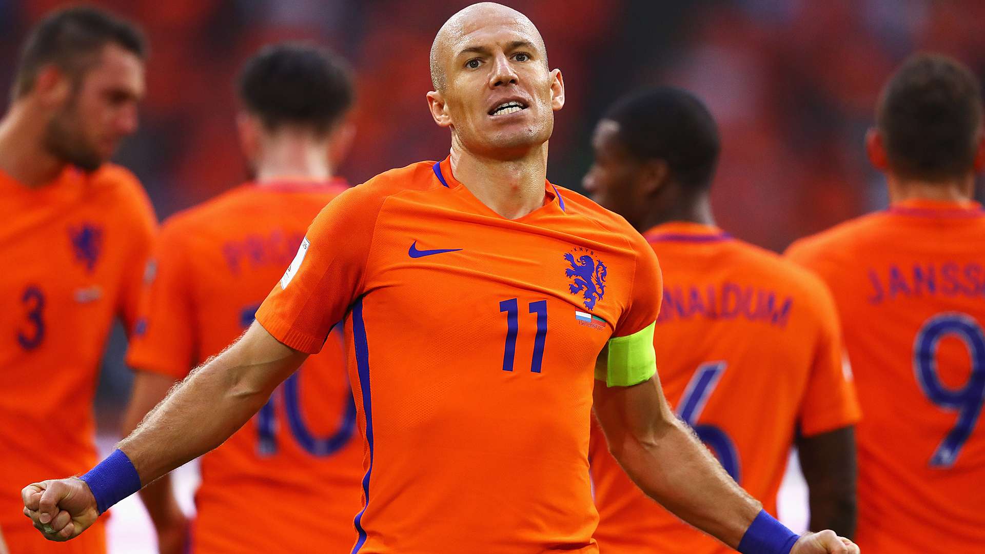 Arjen Robben Netherlands Bulgaria