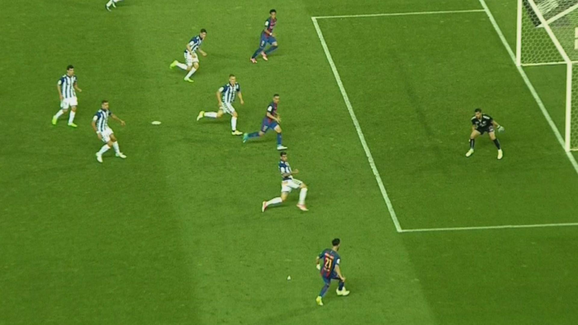 Hay pol mica fuera de juego de neymar en el 2 1 del for Fuera de juego del valladolid