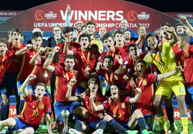 Spain beat England on penalties to win UEFA U17 Championship