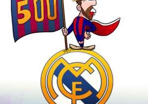 Messi arriva a 500 goal col Barcellona e lo fa in una occasione di gran lusso... bandierina piantata proprio in casa del Real Madrid!