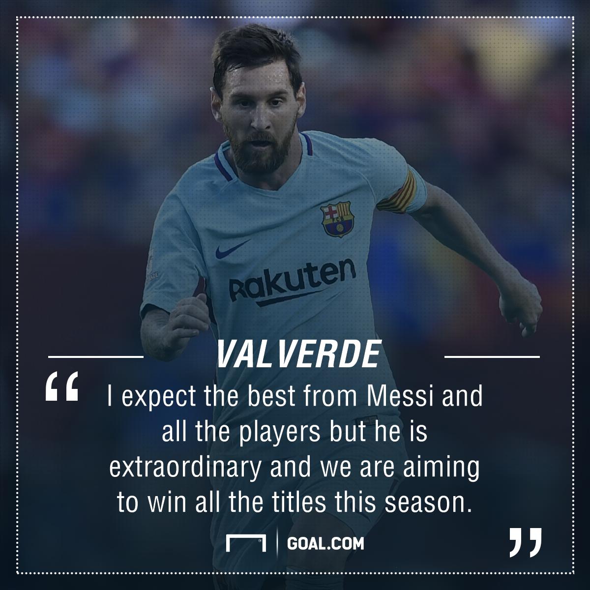 Ernesto Valverde Lionel Messi Barcelona