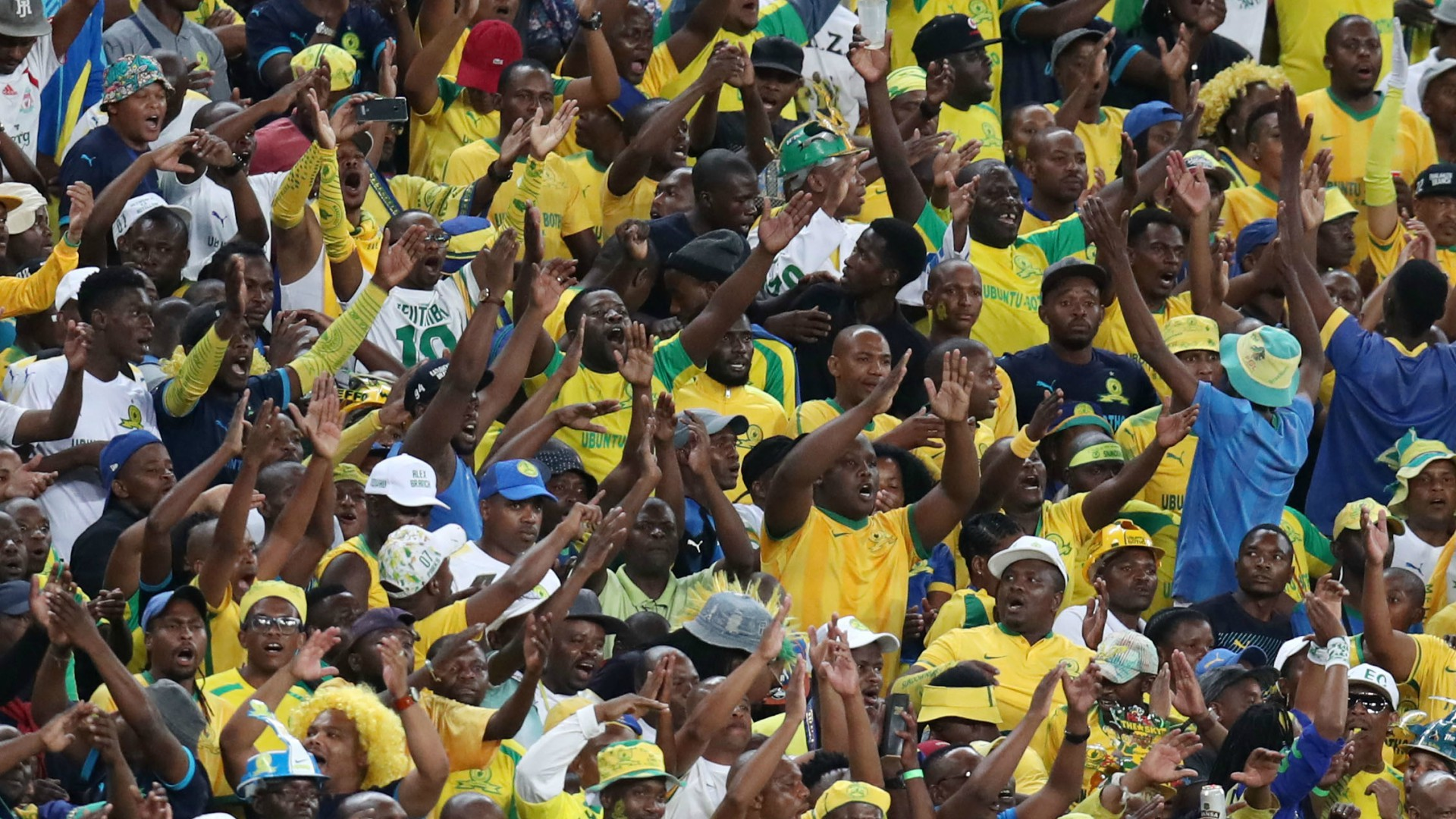 EXTRA TIME: Mamelodi Sundowns fans celebrate Caf Champions League progress