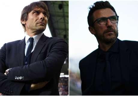 Conte vs Di Francesco: dalla B alla Champions