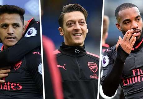 Arsenal sparkle & achieve goal century vs Everton