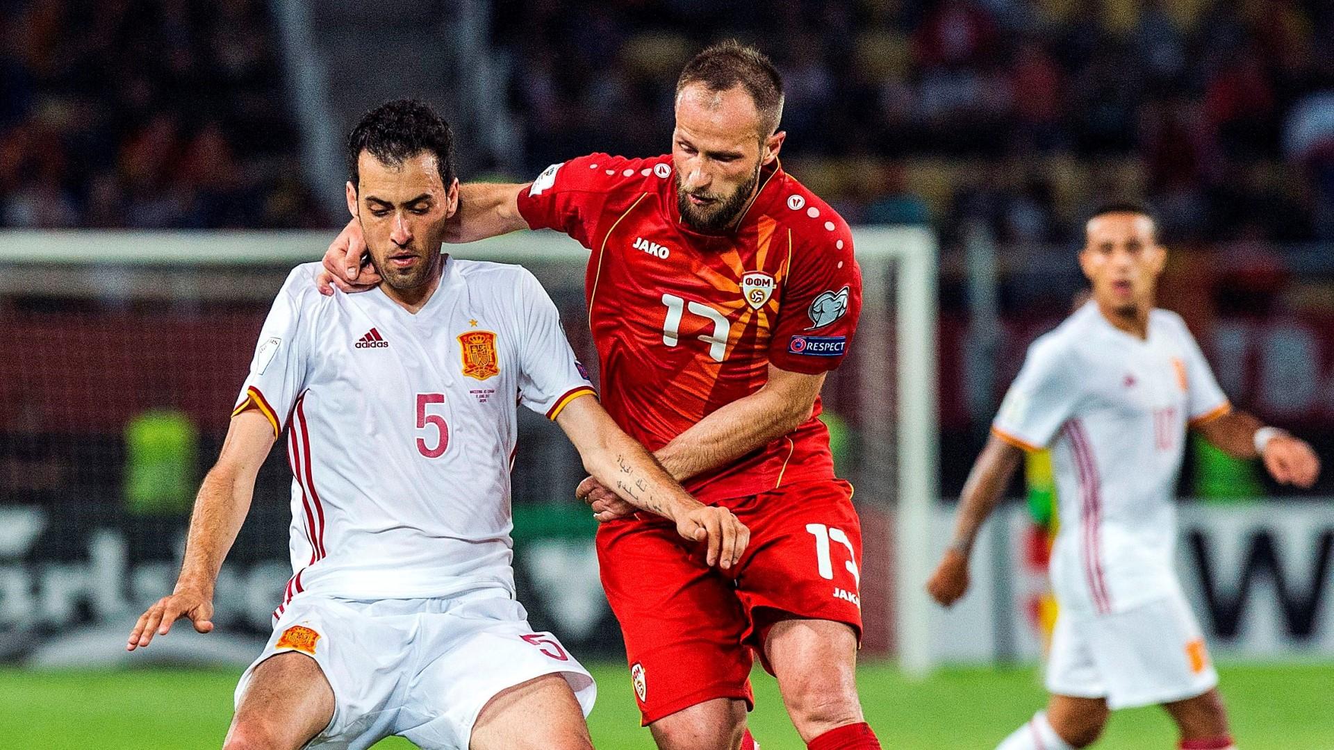 Sergio Busquets Ostoja Stjepanovic Spain Macedonia 11062017