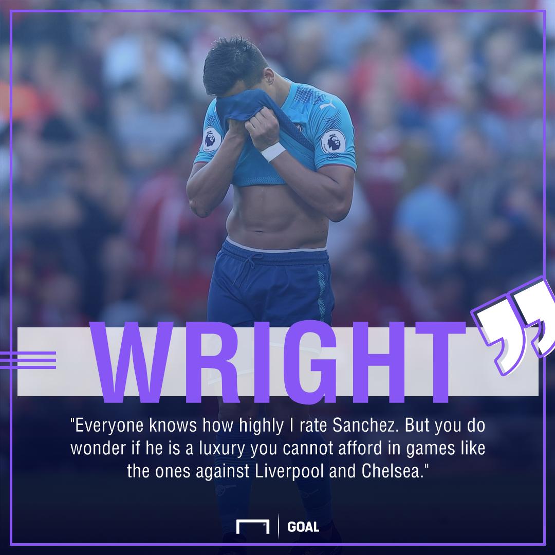Ian Wright Alexis Sanchez Arsenal luxury