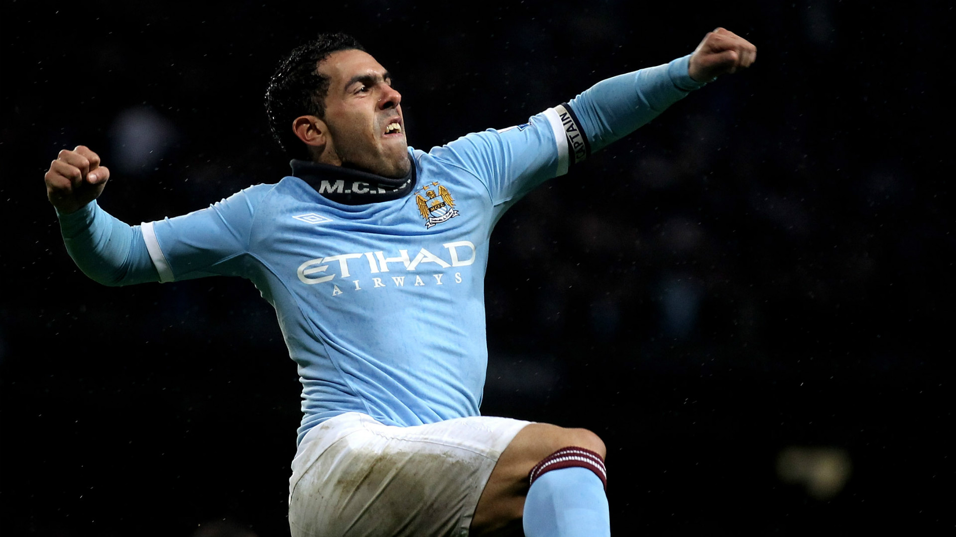 Carlos Tevez Manchester City Premier League