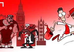 25 DE SEPTIEMBRE: Mesut Özil le pintó de rojo la cara a Diego Costa, a Conte y a todo Londres.