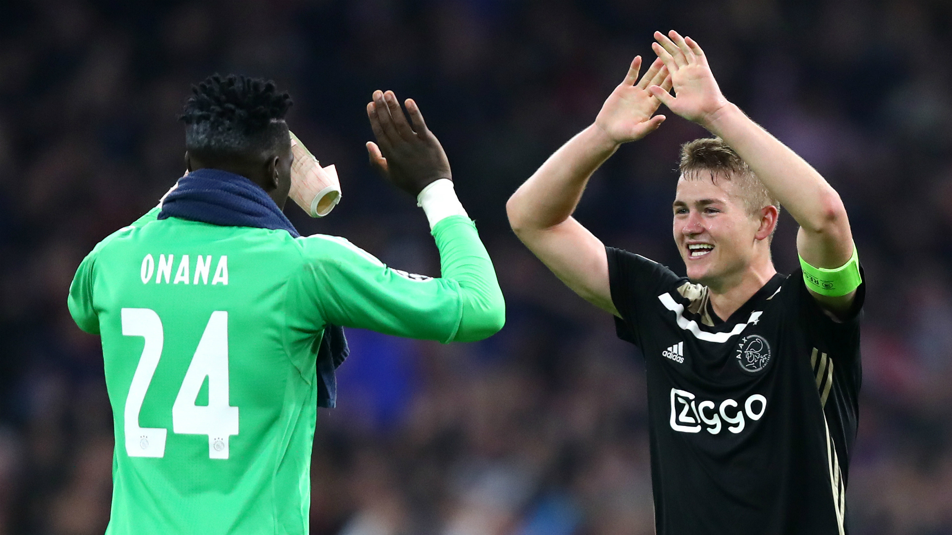 Ajax goalkeeper Andre Onana bids farewell to Matthijs de Ligt after Juventus move