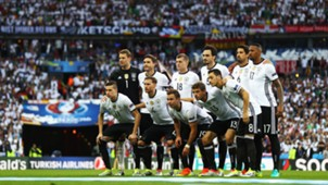 Germany Starting XI Startelf Mannschaftsfoto EC EM