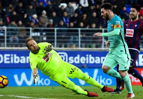 Messi helps Barca ease past Eibar