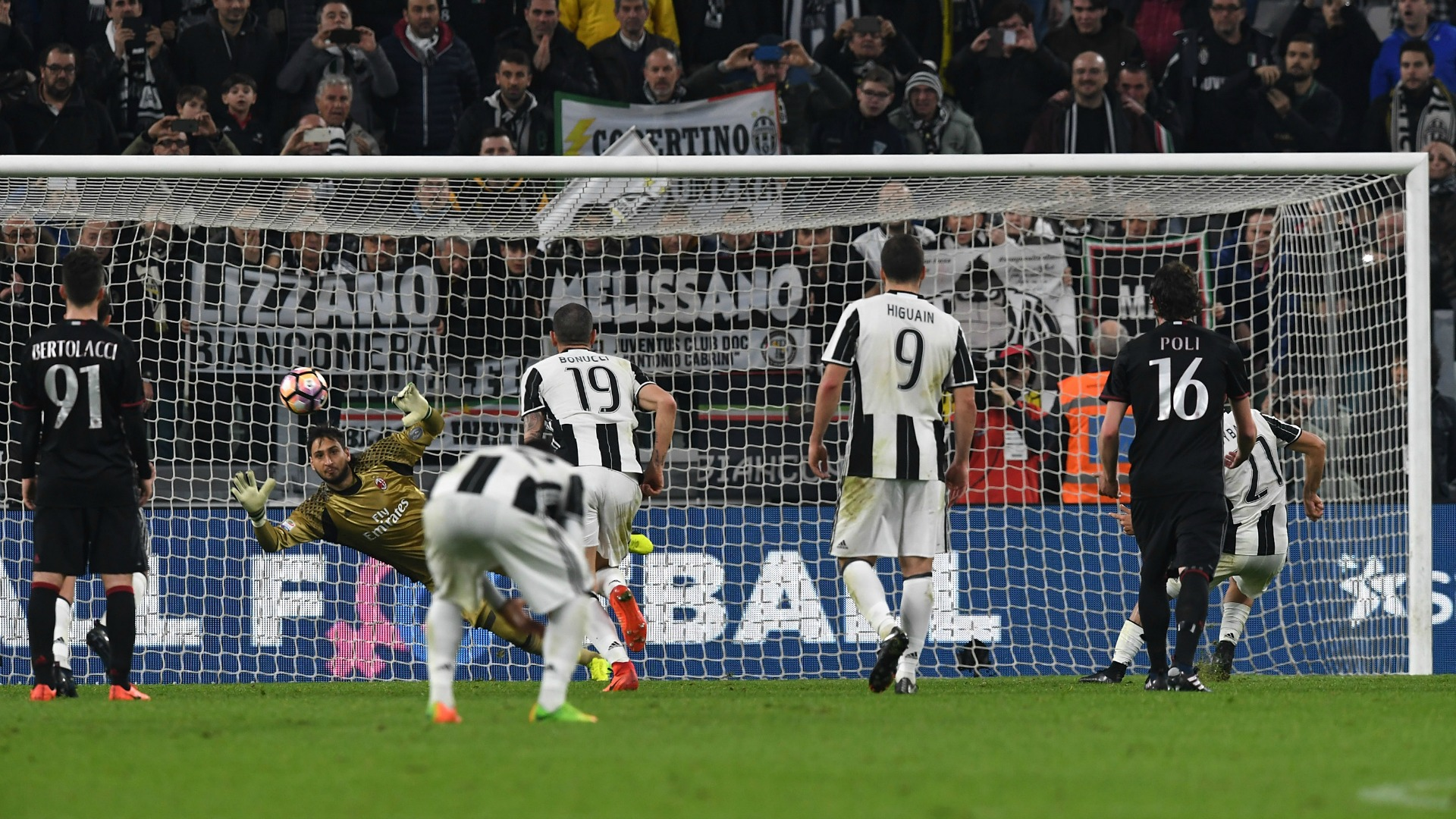 Paulo Dybala Gianluigi Donnarumma Juventus Milan Serie A