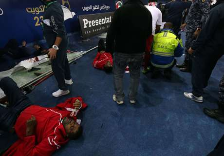 Barriere eingestürzt: 40 Verletzte bei Golf-Cup-Finale