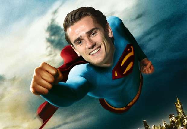 official antoine griezmann is superman in lego batman movie