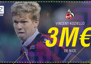 Vincent Koziello - De Nice à Cologne - 3 millions d'euros - Contrat de quatre ans et demi.