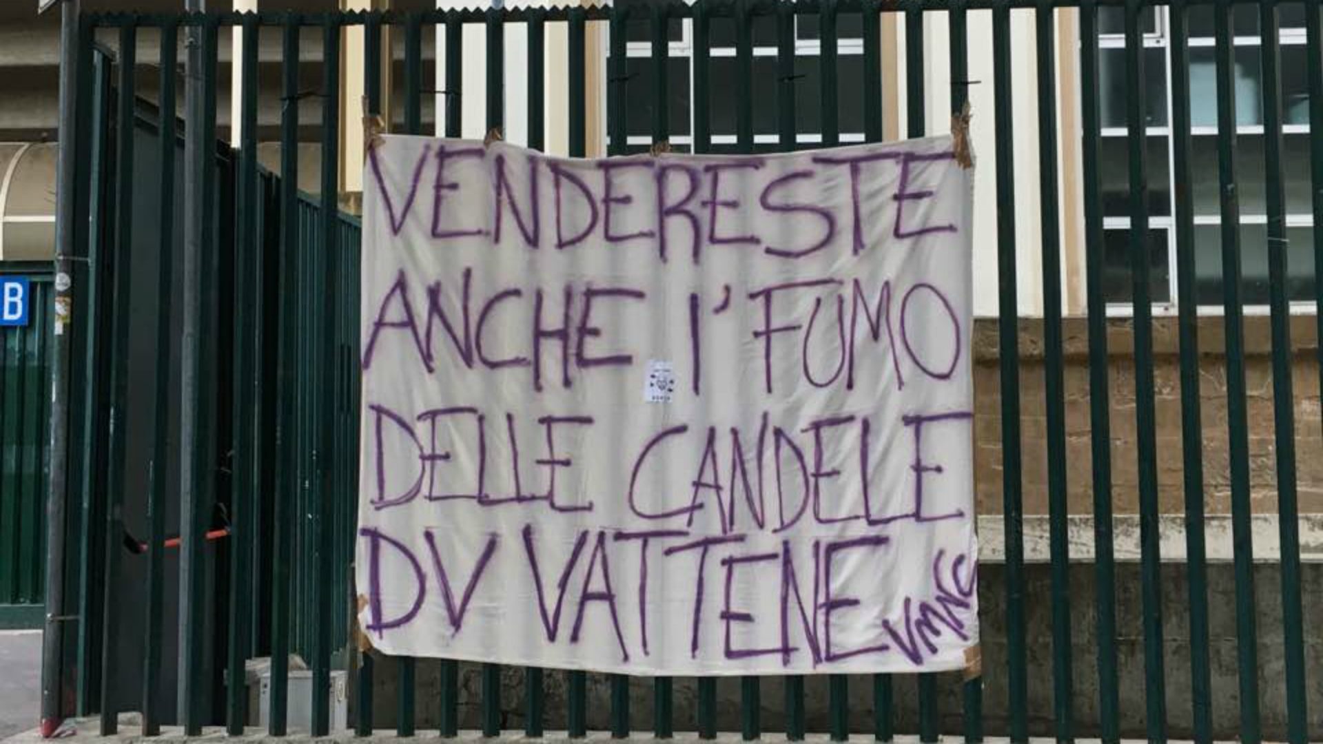 Fiorentina, striscione contro Della Valle