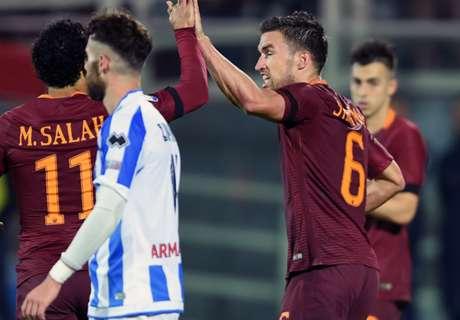 Pescara-Roma 1-4, résumé de match