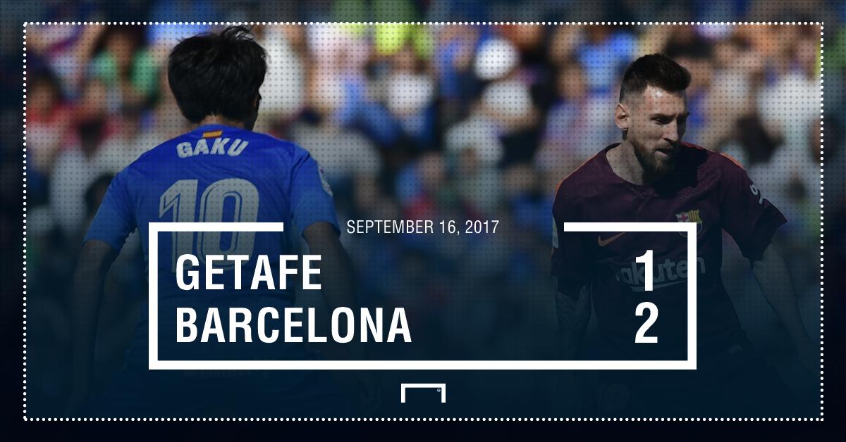 Getafe Barca score