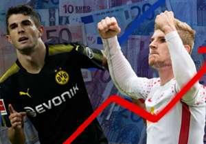 Transfermarkt.de hat die Marktwerte der Bundesliga-Spieler aktualisiert. Vor allem die Stars von RB Leipzig profitieren vom neuen Update. Hier kommen die Top-20 der neuen Marktwerte.