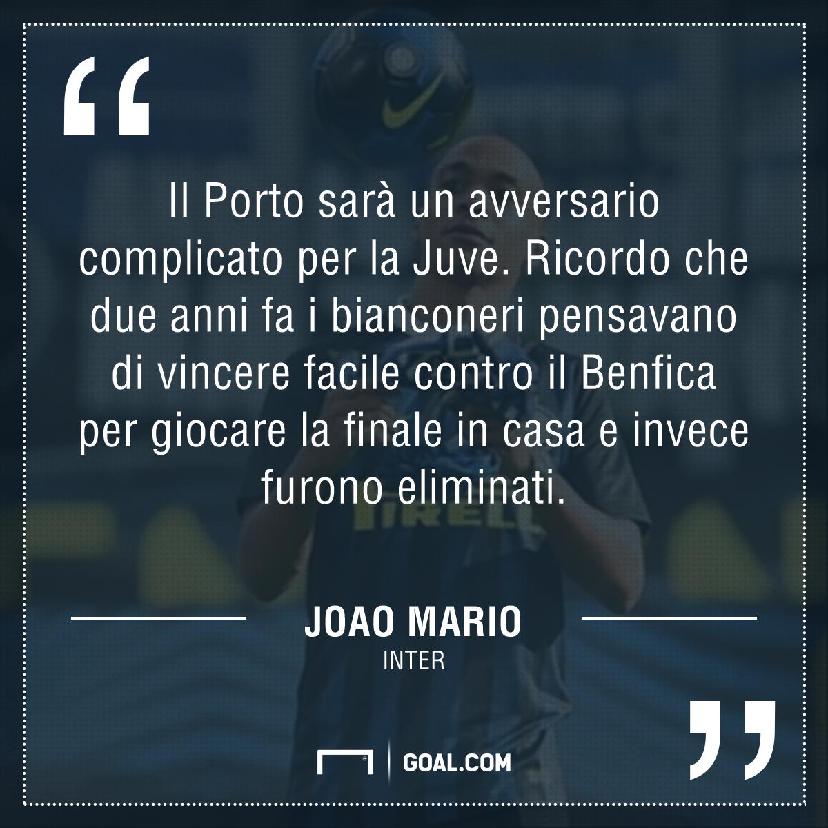 Cristiano Ronaldo Inter, Joao Mario: