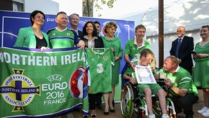 Northern Ireland Republic of Ireland fans award ceremony 07072016