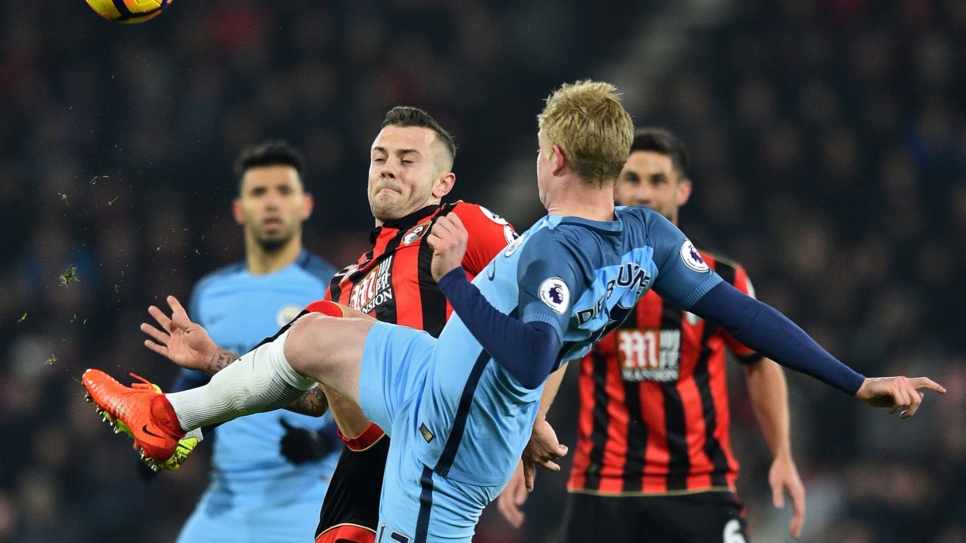 Jack Wilshere Kevin De Bruyne Bournemouth Manchester City