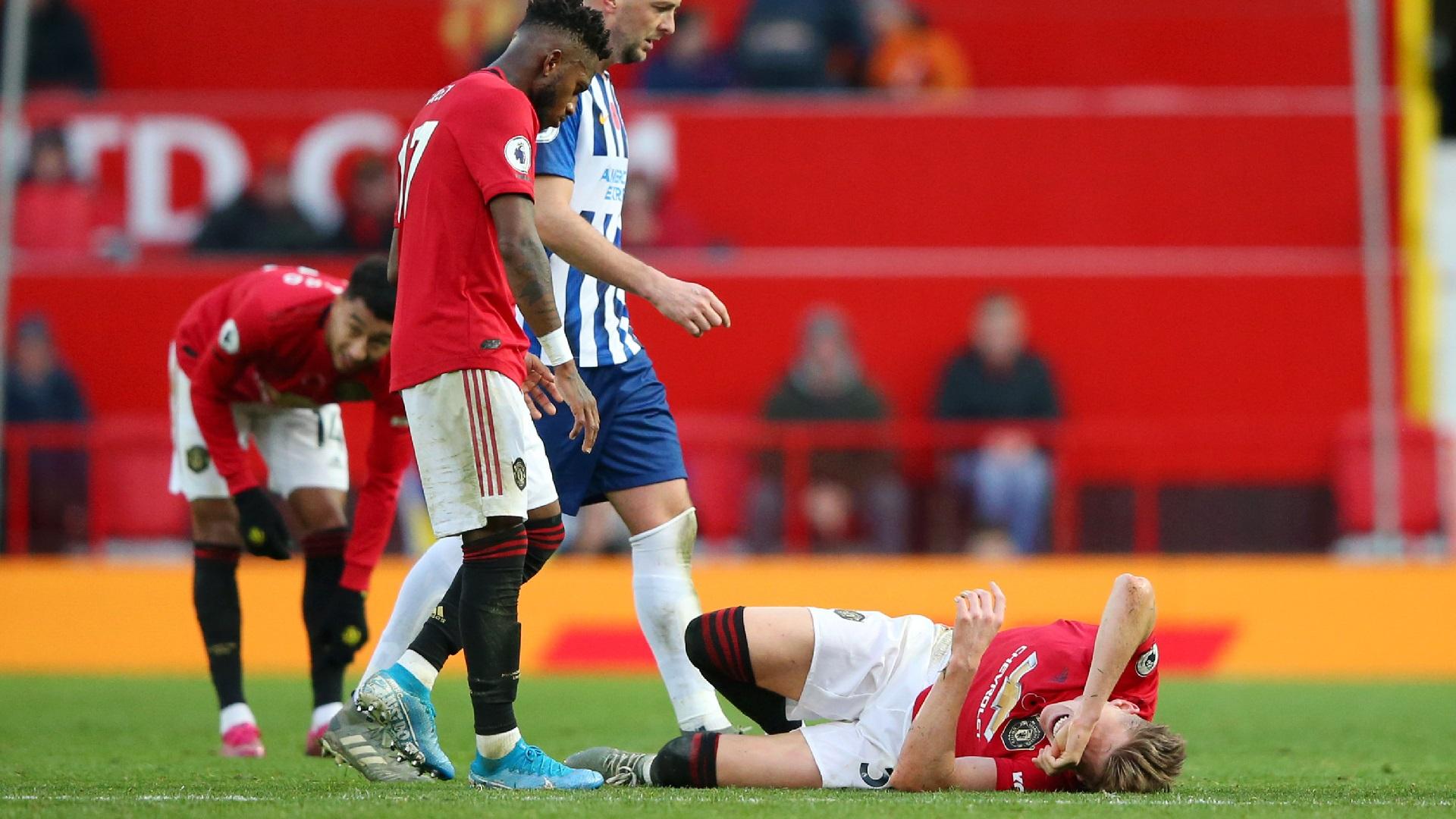 McTominay injury mars Man Utd win over Brighton as midfielder hobbles off