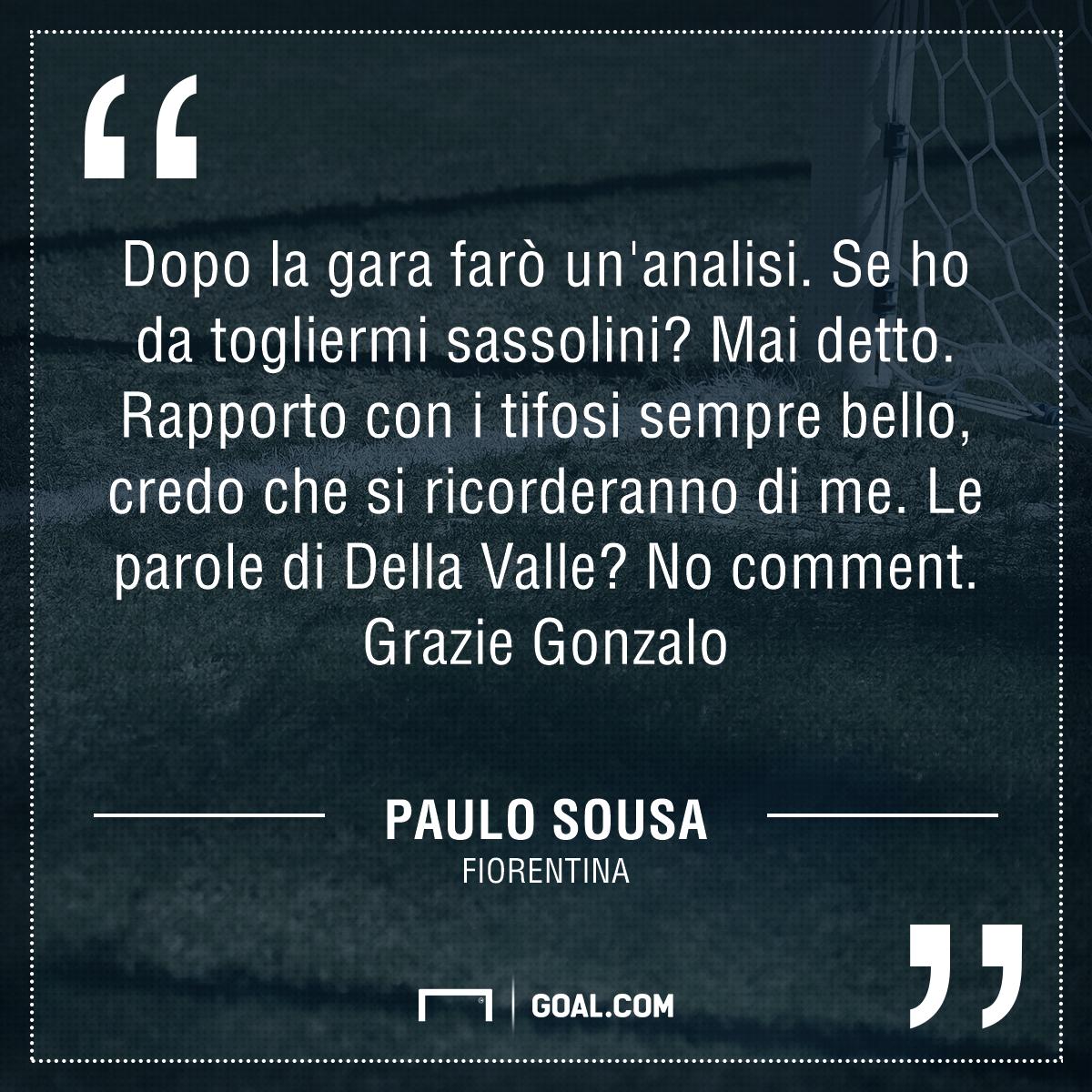 Sousa ai saluti: Firenze si ricorderà di me