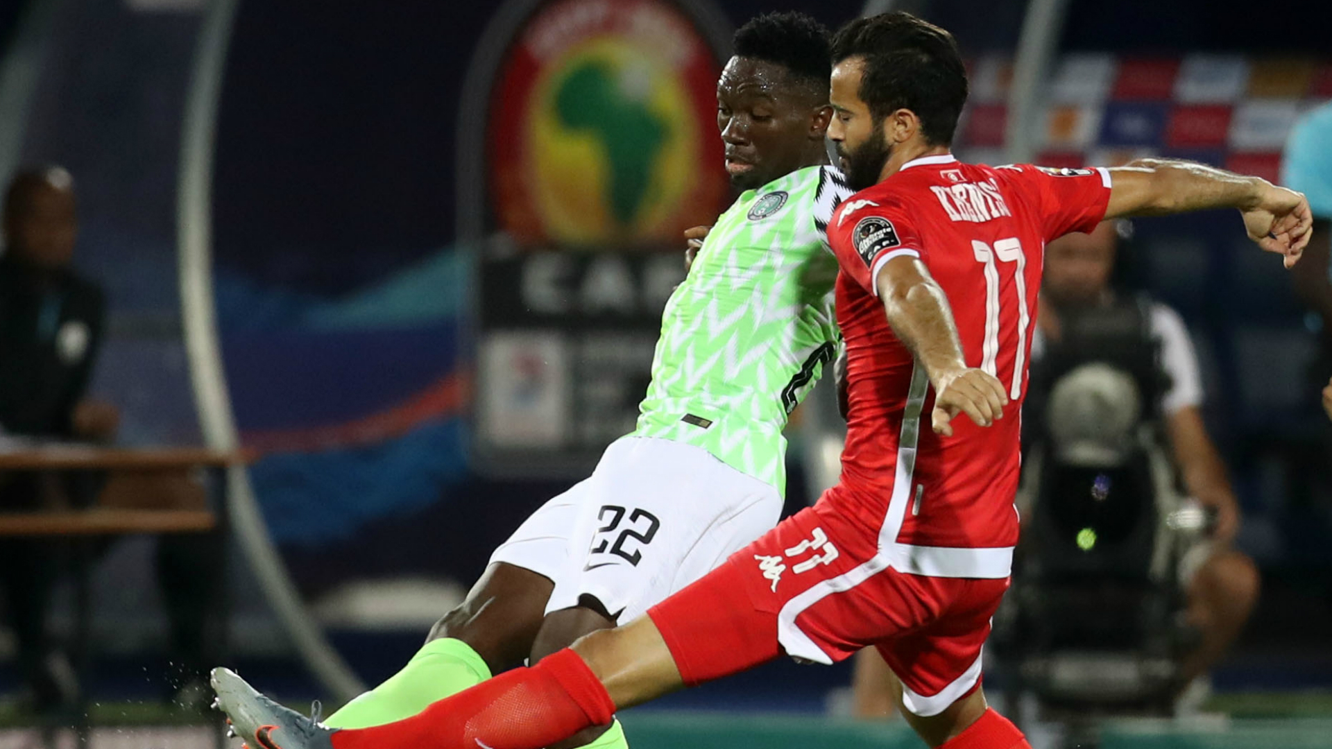Afcon 2019: Tunisia 0-1 Nigeria - By The Numbers
