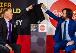 Beberapa mantan pemenang Piala Dunia dan legenda sepakbola menjadi perpisahan yang pas