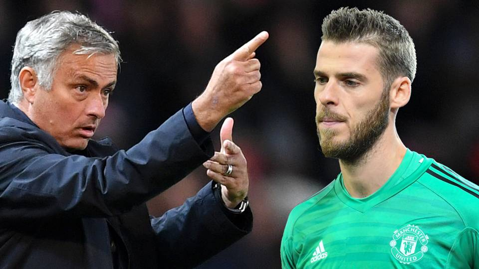 Jose Mourinho David De Gea Man Utd 2018-19