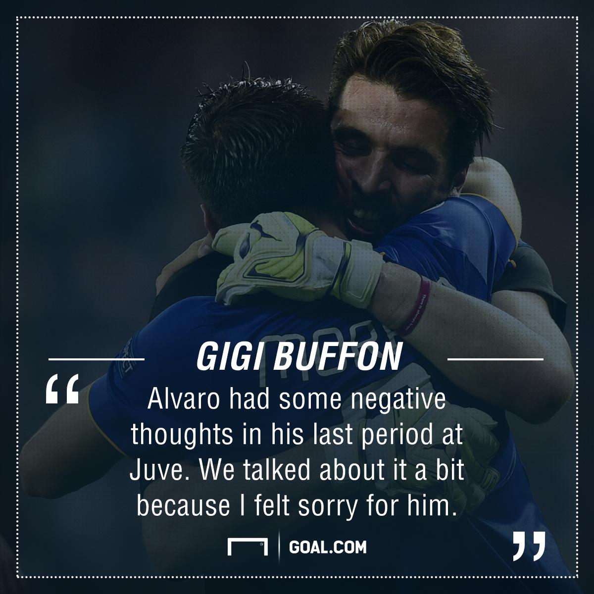 Gianluigi Buffon Alvaro Morata PS