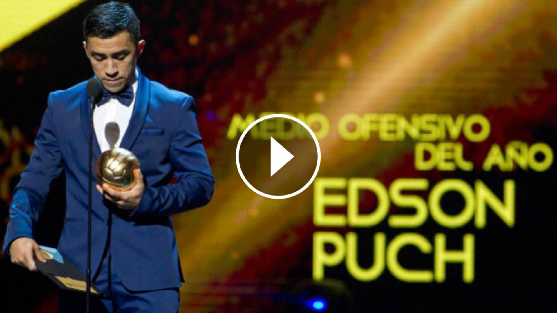 Edson Puch se lleva el Balón de Oro de la liga mexicana