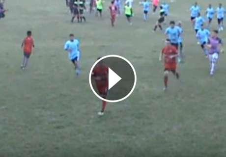 ► Batalla campal en el fútbol tucumano