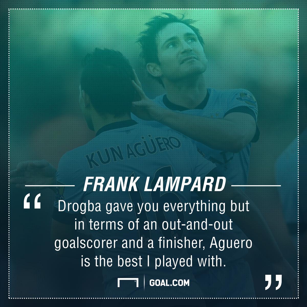 Frank Lampard on Sergio Aguero