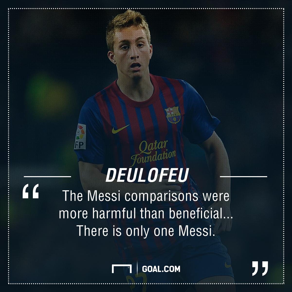 Gerard Deulofeu Messi Barcelona PS