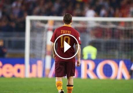El emotivo homenaje de la Roma a Totti