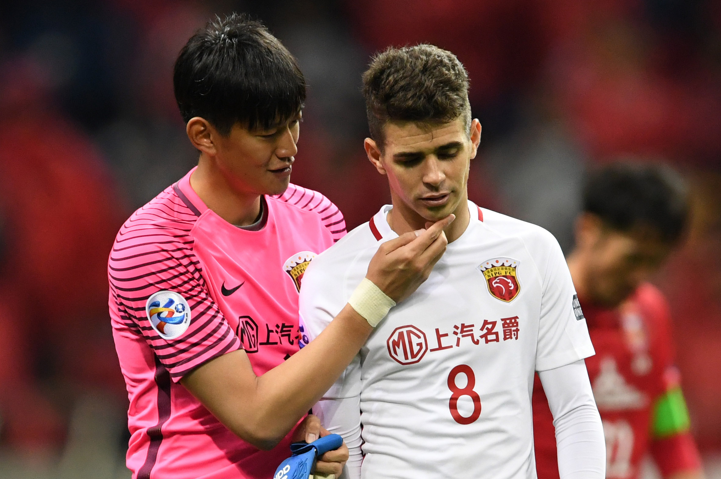 Oscar suspended for eight games in China Super League