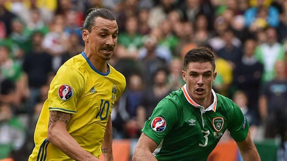 Zlatan Ibrahimovic Sweden Ciaran Clark Republic of Ireland 13062016
