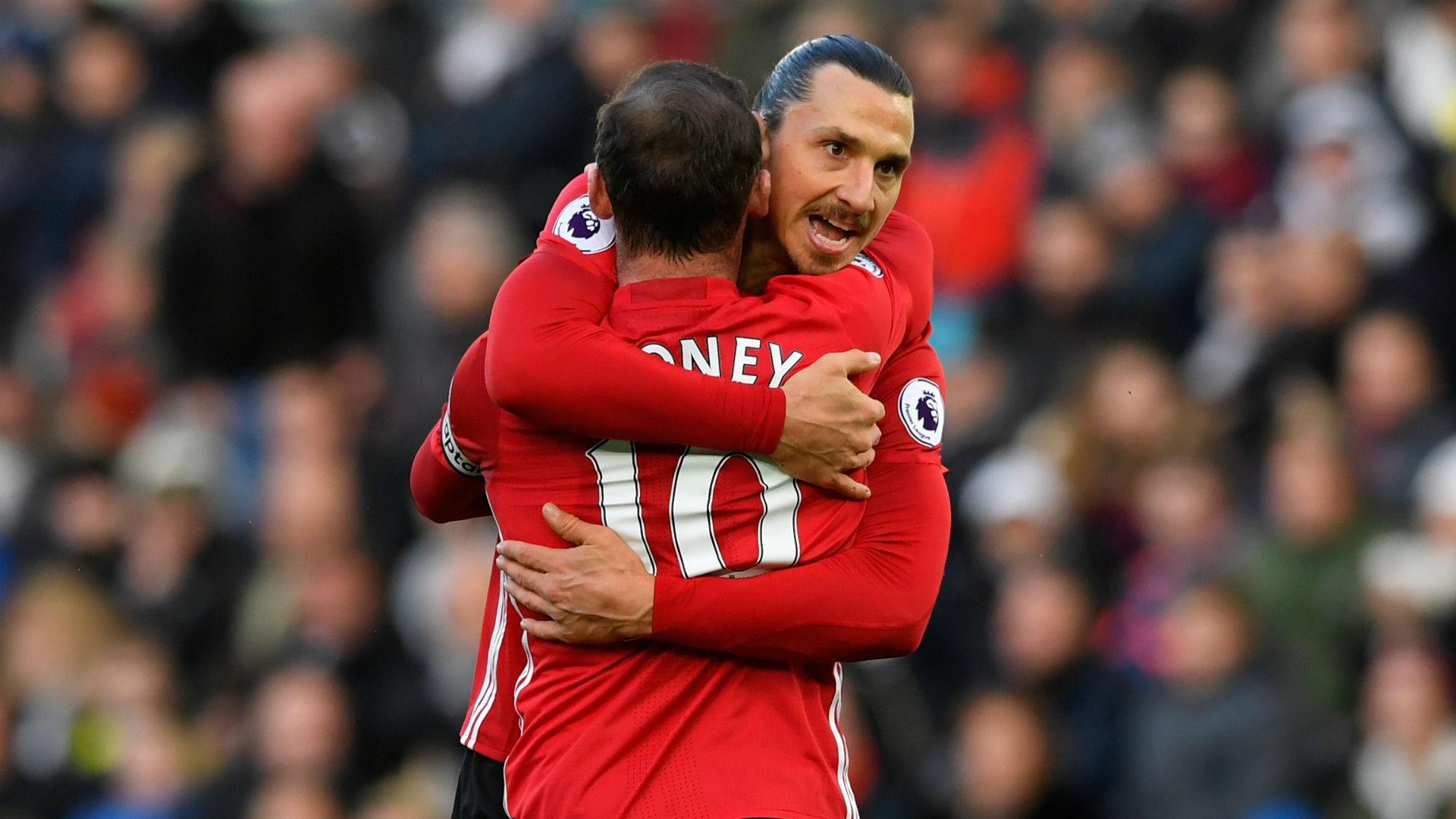 Wayne Rooney Zlatan Ibrahimovic Manchester United