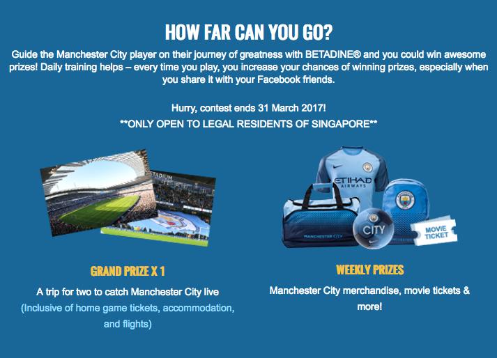 Man City Betadine contest details
