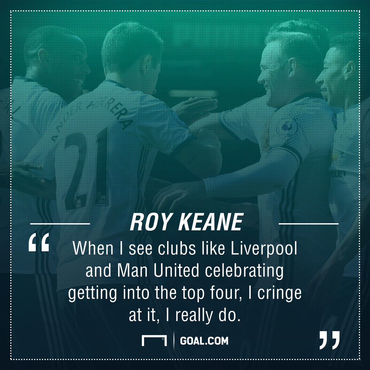 Roy Keane Manchester United Liverpool top four