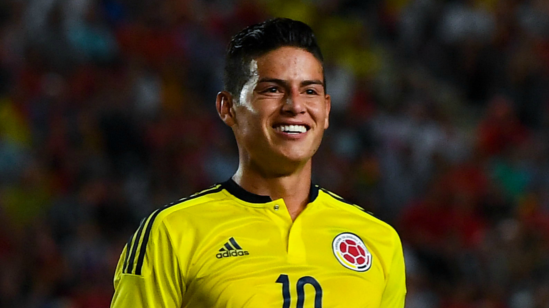 James Rodriguez with Colombia shirt