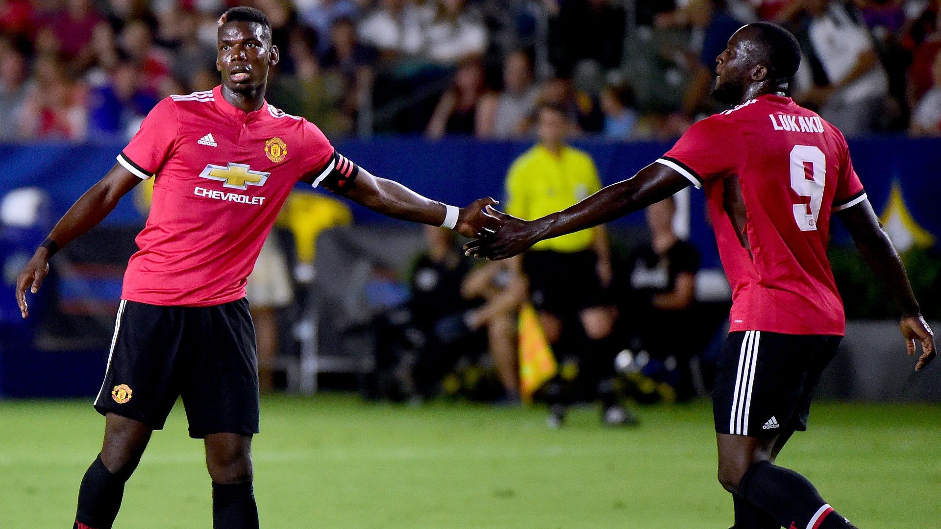 Paul Pogba Romelu Lukaku Manchester United