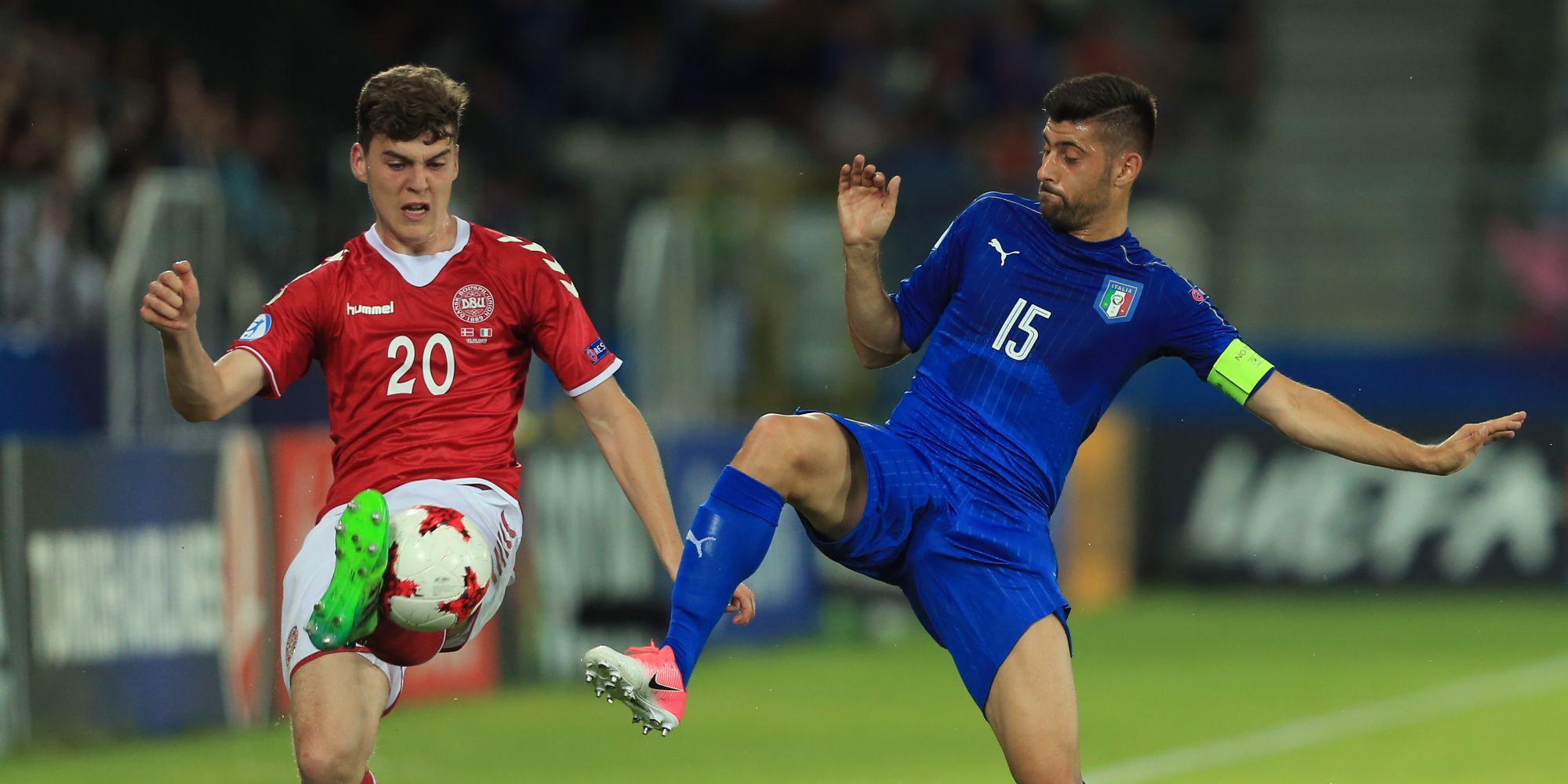 Marco Benassi Jacob Rasmussen Denmark Italy UEFA U21 Championship