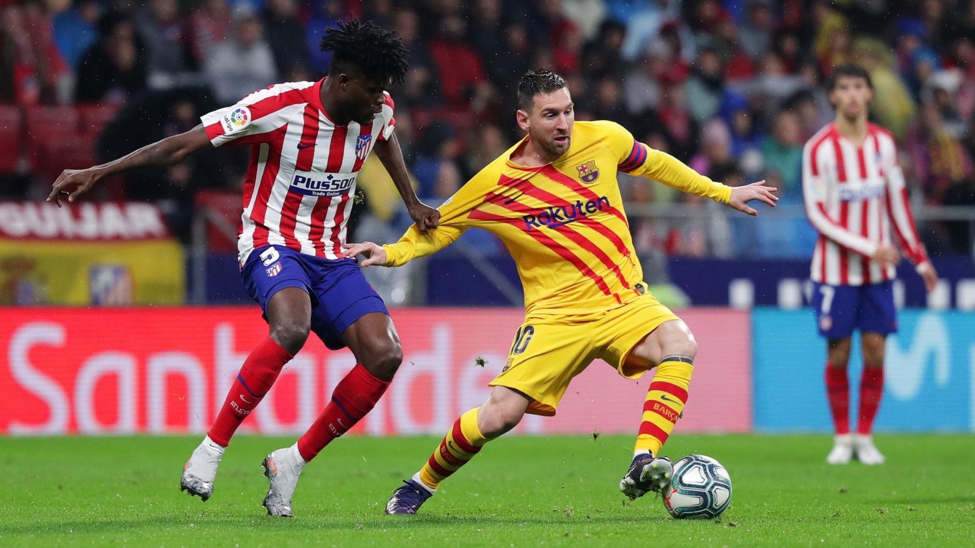 Partey's Atletico Madrid denied a point by brilliant Messi strike