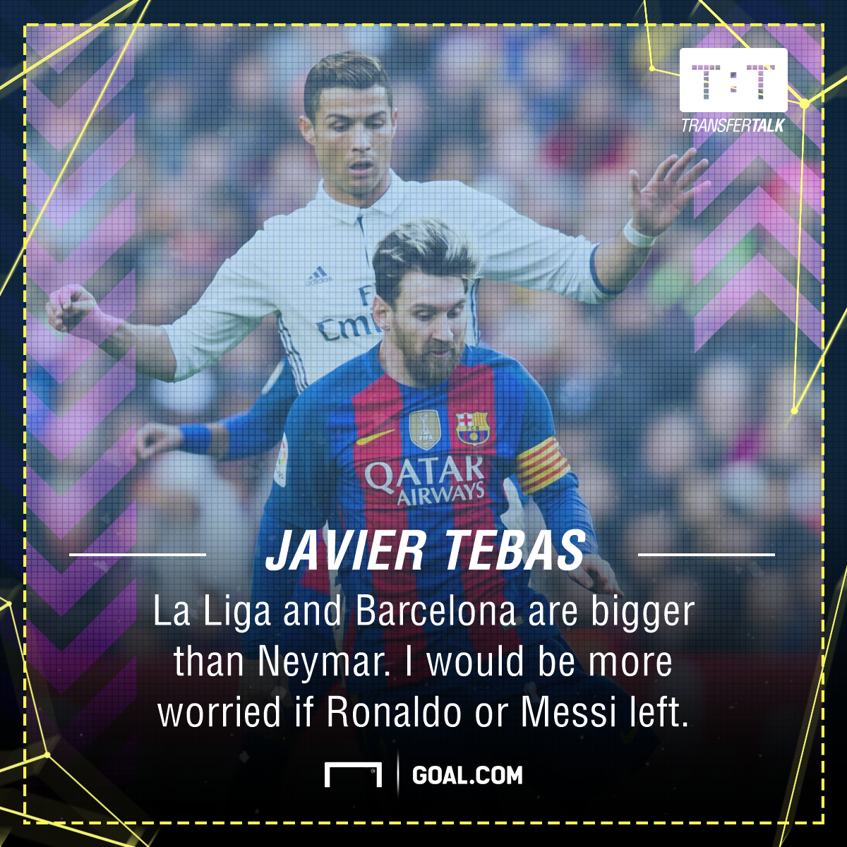 Lionel Messi Cristiano Ronaldo Neymar Javier Tebas La Liga